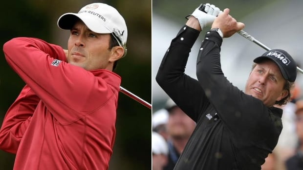 Mike Weir, left, will try to become the first Canadian to win the U.S. Open, while American Phil Mickelson, right, will attempt to shed the bridesmaid tag after being a runner-up five times.