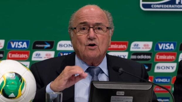 Joseph Blatter during a press conference in Rio de Janeiro, on June 28, 2013.