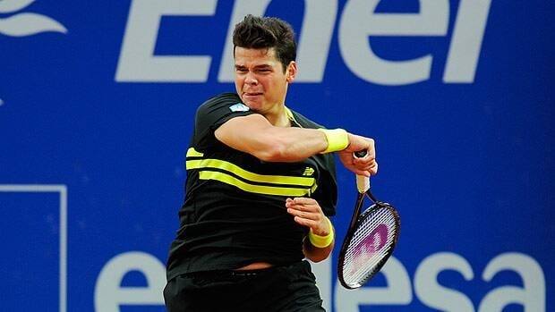Milos Raonic of Canada, seen last week playing in Barcelona, is seeded 14th for the Madrid event.