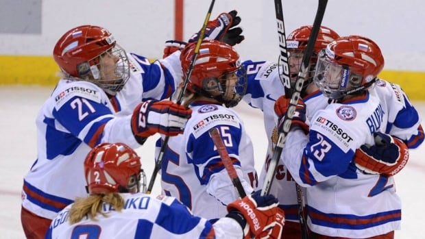 Teams like Russia have a long way to go to match the talents of Canada and U.S. women's hockey teams.