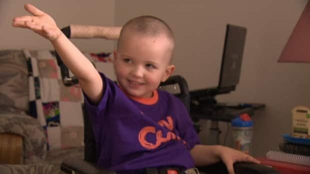Leeland Hill, 3, began chemotherapy and radiation treatments Monday.