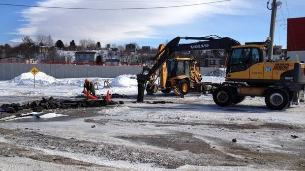 Parts of Rothesay Avenue remain closed until the broken asphalt can be repaired.