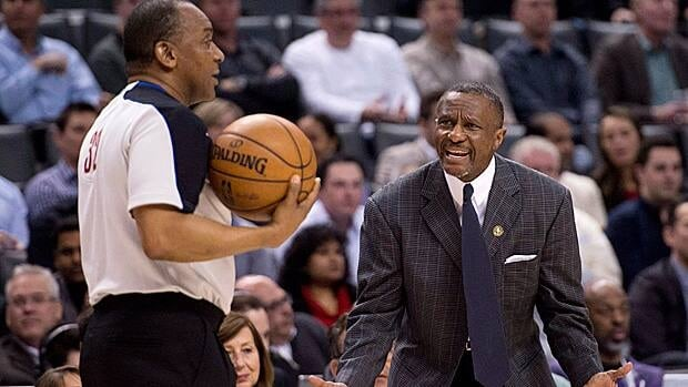 Toronto Raptors coach Dwane Casey, seen pleading his case during an NBA game in April, will have to earn an extension through the team's play next season.