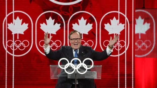 """Marcel Aubut, president of the Canadian Olympic committee, says """"we are strengthening our sports system for today and tomorrow"""" with the funding plan announced Wednesday."""