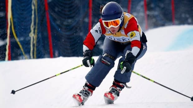 Kelsey Serwa's other podium appearance came last month when she won gold in Italy.