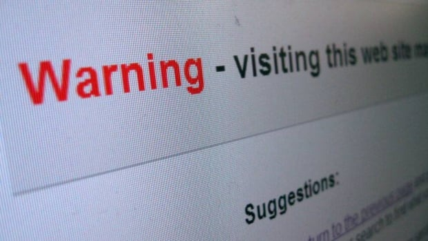 This is the warning that greeted people on Thursday who Googled a link to SARCAN and tried to connect.
