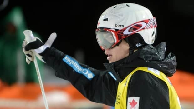 Canada's Mikael Kingsbury, seen here on Feb. 15, leads the World Cup standings with 705 points.