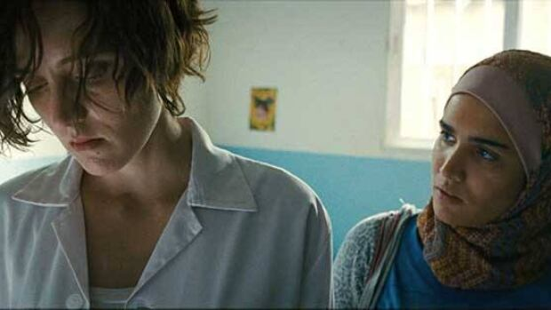 Inch'Allah stars Evelyne Brochu as a Canadian doctor working in a Palestinian women's clinic.
