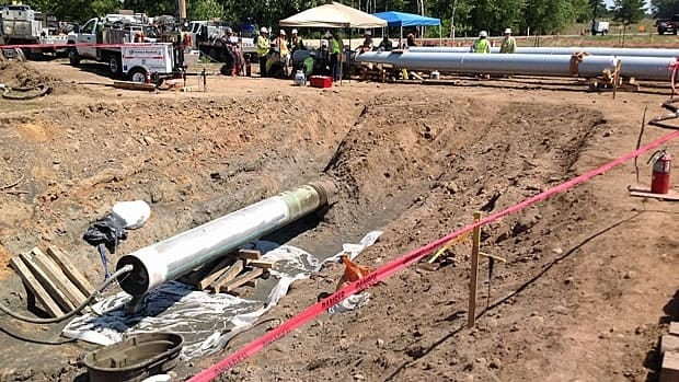Enbridge said yesterday it had completed repairs to Line 14.