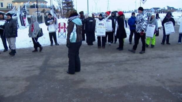 About 130 workers at the Symphony Senior Living care home in Red Deer are on strike.