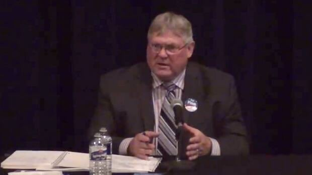 Pat Pimm, the Liberal candidate in Peace River North, was speaking at an all-candidates forum, a recording of which was posted on YouTube.