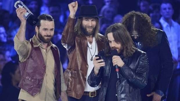 Hamilton band Monster Truck receiving the Juno for Breakthough Group of the year award during the 2013 Juno Awards in Regina on April 21, 2013. The city is setting up a music office to encourage Hamilton's music industry.