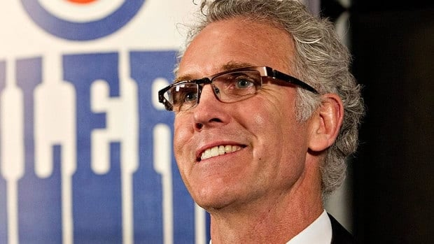 "Craig MacTavish, seen here speaking to Edmonton reporters on Monday after being named Oilers GM, believes there isn't ""a full understanding from our group of how incredibly difficult it is to have success in this game and how hard you have to work to have any type of success in this game."""