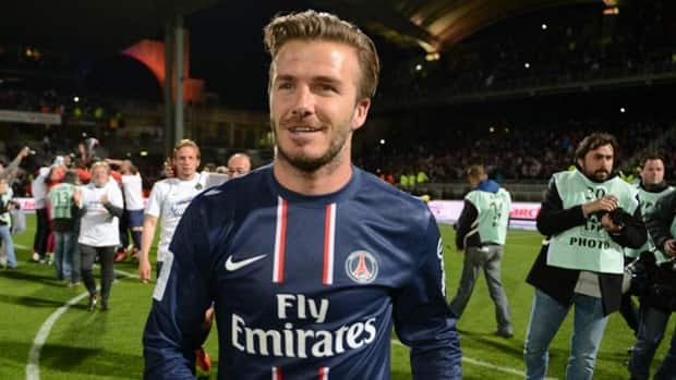 David Beckham, seen celebrating after PSG's win on Sunday, also starred in England, Spain and North America.