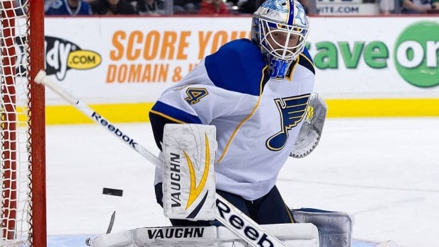 The Blues' Jake Allen signed a two-year contract on Friday. He was 9-4-0 with a 2.46 goals-against average to lead rookie NHL goalies in 2013.