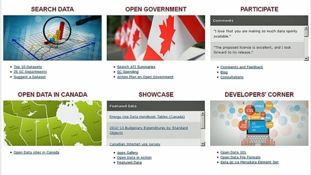 A revamped data.gc.ca portal was launched Tuesday.