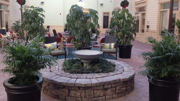 The new 100-bed Loch Lomond Villa facility includes an indoor courtyard that some of the residents' rooms open on to.