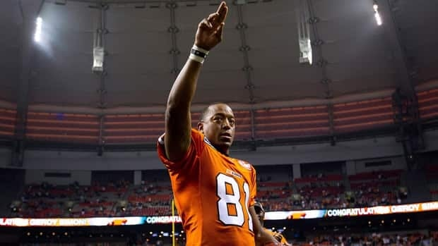 Wide receiver Geroy Simon became the CFL's all-time leader for receiving yards last season with the B.C. Lions.