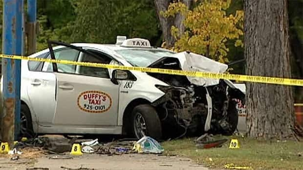 Surveillance images from inside the crashed taxicab have not helped police with their investigation.