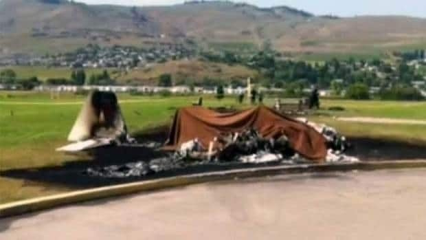 The plane erupted into a ball of fire upon impact, killing the pilot, a 59-year-old Kelowna, B.C., man, and his passenger, a man from the Port Moody area, 55.