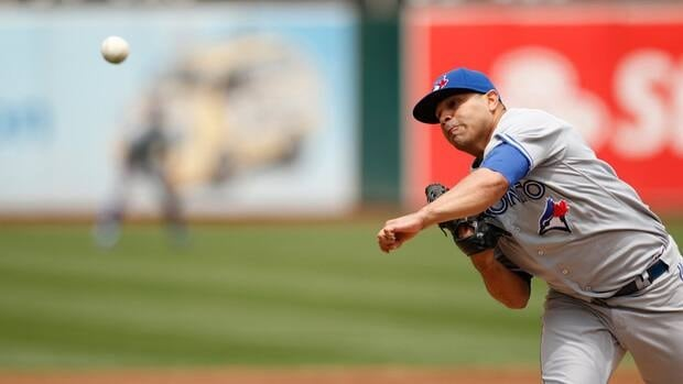 Toronto Blue Jays pitcher Ricky Romero has lost to the Yankees twice during his 10-game slump.