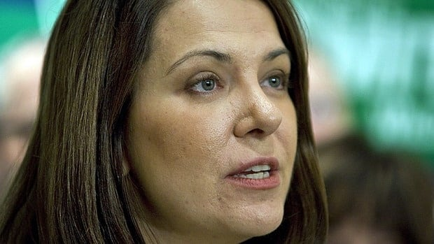 """Wildrose Party Leader Danielle Smith, shown in Okotoks, Alta., on March 27, 2012, is a smart, likable woman who is """"indispensable"""" to the party's rise, says Mount Royal University professor Duane Bratt."""
