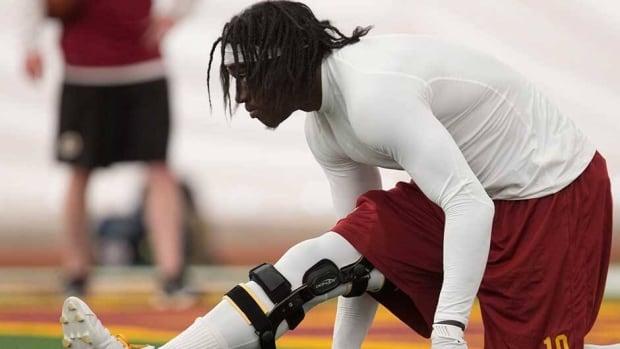 Washington Redskins quarterback Robert Griffin III injured his knee multiple times last season.