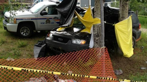 The RCMP collected evidence this weekend from a fatal crash site in Sheshatshiu.