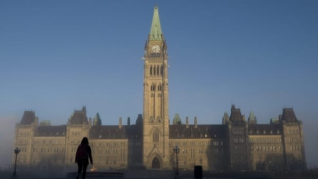 Sun illuminates the Peace Tower in Ottawa, Nov. 2, 2010.