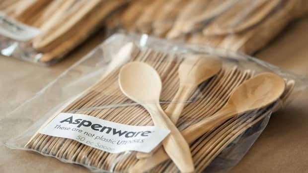Poplar from the Whiskey Jack Forest in northwestern Ontario will be used in the making of disposable wooden cutlery produced by British Columbia-based company Aspenware.