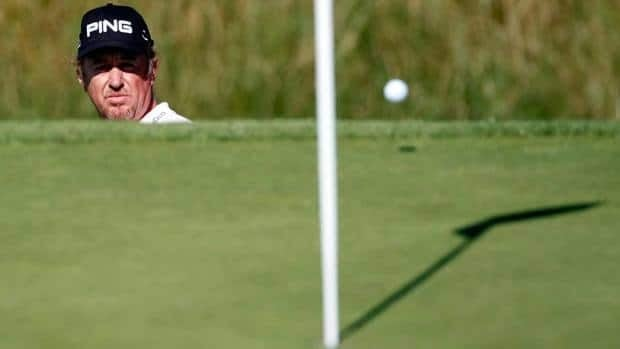 Miguel Angel Jimenez of Spain finds himself in a hole to start the 2013 season after breaking his leg while skiing. He's expected out for up to five months.
