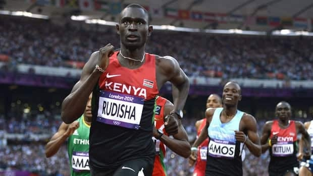 David Rudisha ran a world record 1 minute, 40.91 seconds to win the Olympic gold in the 800 earlier this month in London.