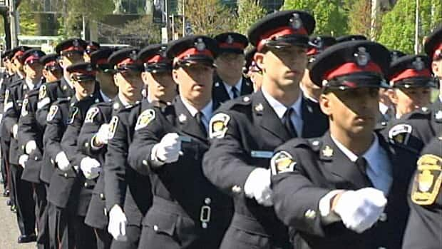 Thousands of officers gathered in Toronto to pay tribute to their fallen colleagues during the 13th annual Ceremony of Remembrance.