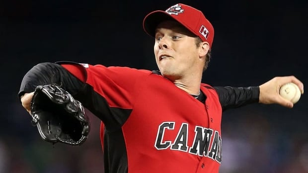 Canadian pitcher Andrew Albers, seen here at the World Baseball Classic in March, will make his major league debut Tuesday night for the Minnesota Twins in Kansas City.
