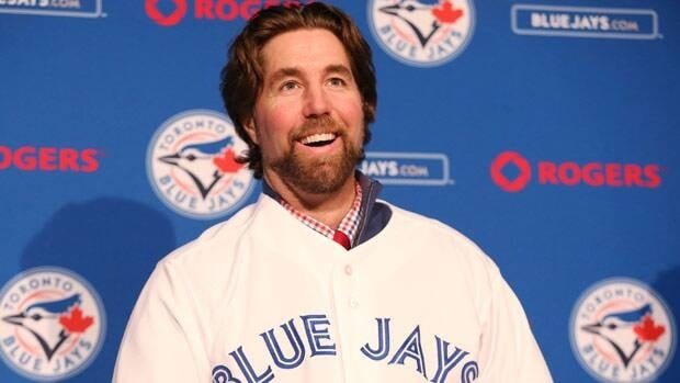 R.A. Dickey, seen at last week's press conference in Toronto, is part of a strong U.S. pitching staff.