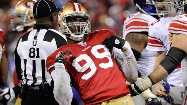 Aldon Smith figures to be an every-down linebacker for San Francisco after racking up 14 sacks as a 22-year-old rookie last season.