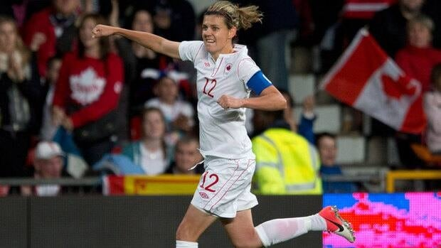 Forward Christine Sinclair led Canada to a bronze medal at the 2012 London Olympics.