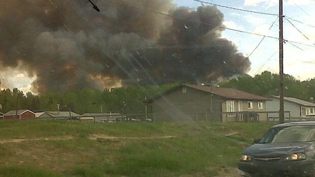 A forest fire is burning near La Loche, in Saskatchewan's north.