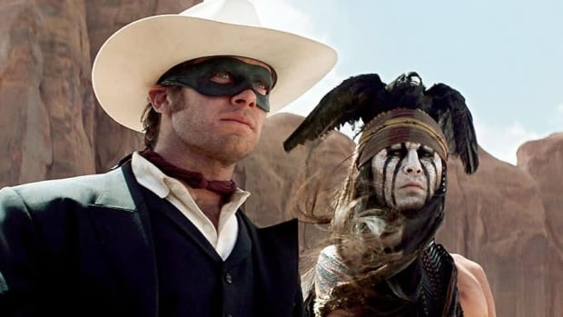 Armie Hammer, left, and Johnny Depp appear as The Lone Ranger and Tonto, respectively, in the summer box office flop The Lone Ranger.