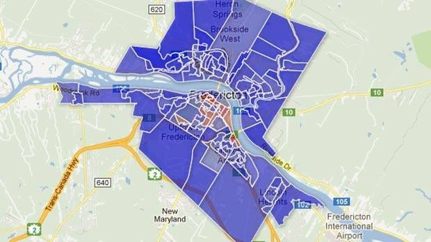 Brad Woodside won his ninth term as Fredericton's mayor thanks to support across the city. However, his largest margins of victory came on the city's north side.