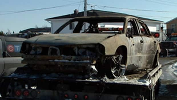 The burned-out remains of Sergei Kostin's cab were found at the end of Downey Road in North Preston