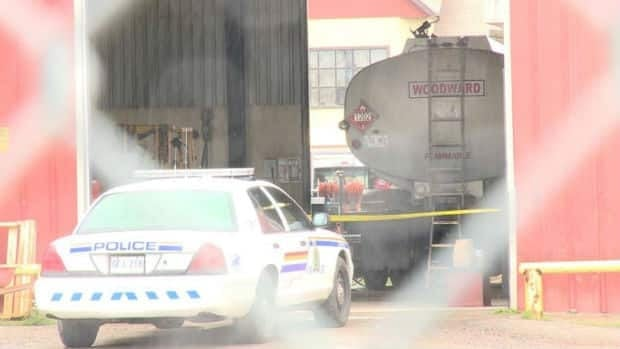 An explosion inside a Woodward's Oil truck killed one man and injured two others on Saturday morning.