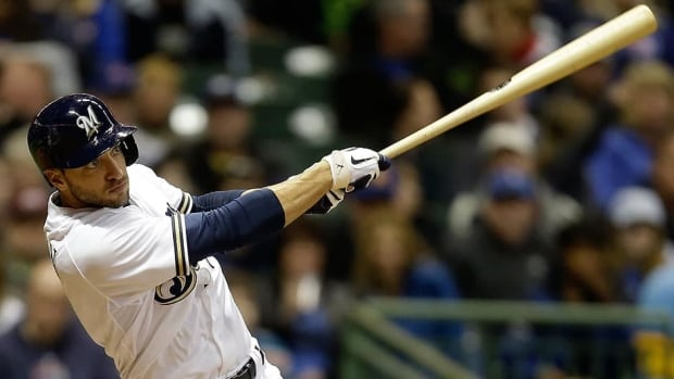 In 2011, Brewers outfielder Ryan Braun won the NL MVP award after posting a .332 batting average, 33 home runs, 111 runs batted in, 33 stolen bases and a .397 on-base percentage. He battled a sore thumb for much of this season, hitting .298 with nine homers, 38 RBIs and four steals in 61 games.