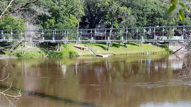 The new Souris bridge sits higher over the water and will officially open on Aug. 17.