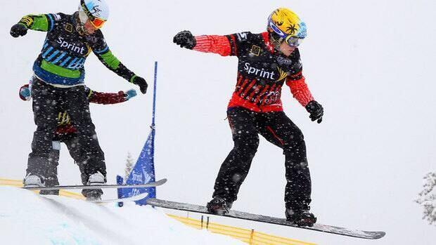 Canada's Dominique Maltais of Petite-Riviere St-Francois, Que. won the U.S. Grand Prix snowboardcross championship Sunday.