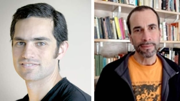 Canadians Tarek Loubani, left, and John Greyson have been detained without formal charges in Egypt since Aug. 16.
