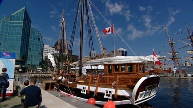 The fully restored tall ship Larinda has sailed into Halifax harbour once again.