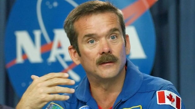Canadian astronaut Chris Hadfield, seen here in 2006, said he plans to write some songs while he is serving as commander of the International Space Station beginning in December.