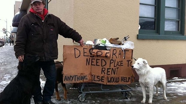 Dean Schaffler and his partner have money to pay rent, but can't find a place in Kelowna that will also let them keep their three dogs.