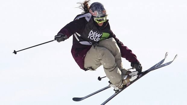 Kaya Turski of Montreal, seen here competing in the slopestyle finals on Sunday in Vermont, became the first woman to win X-Games gold in slopestyle three straight years.